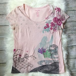 Floral Tee Lucky Brand Casual Top